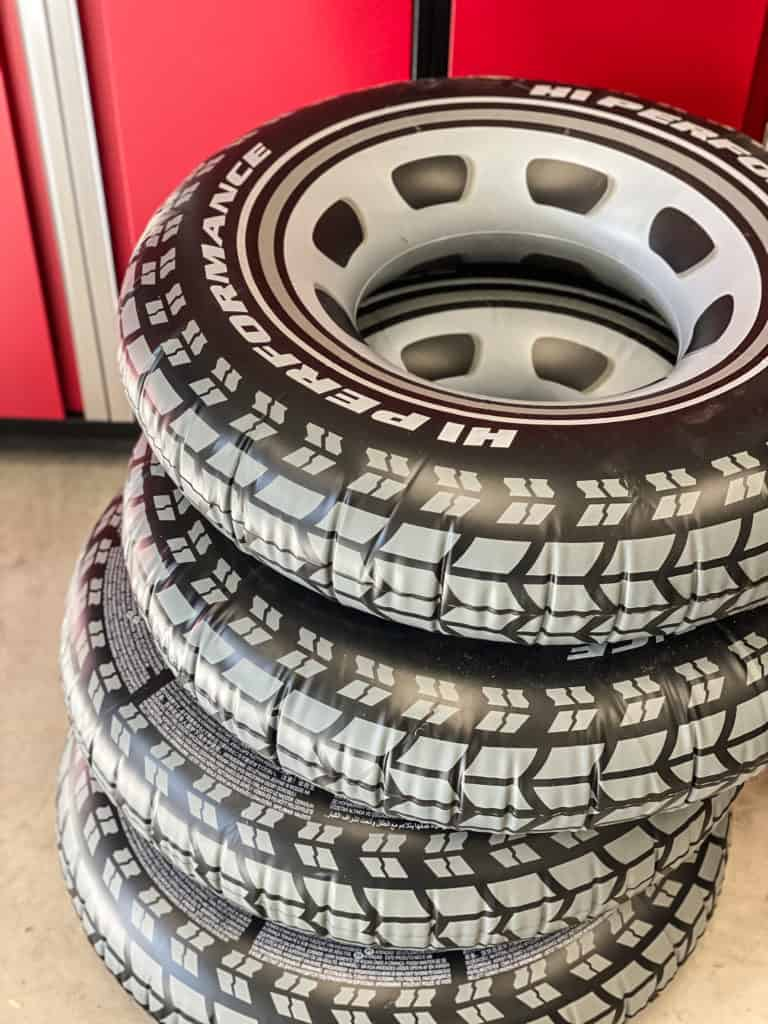 2 Fast 2 Furious Birthday Party blow up tires