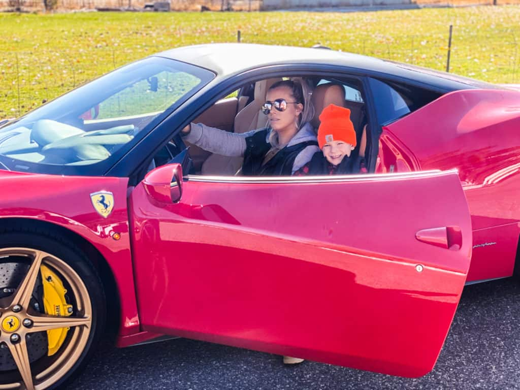 2 Fast 2 Furious Birthday Party Ferrari with girl and boy in it