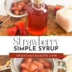 Strawberry Simple Syrup pin