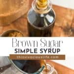 Brown Sugar Simple Syrup pin