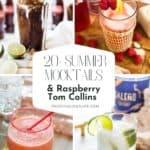 Summer Mocktails + Raspberry Mocktail Recipe pin