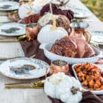 outdoor thanksgiving dinner table