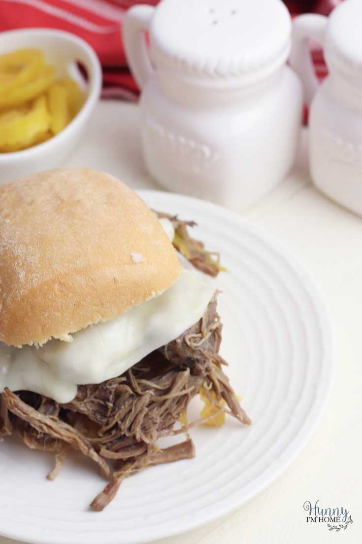 Beef and cheese sandwich on gluten-free roll
